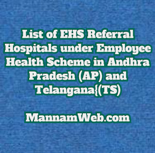 : Find EHS Hospitals - List of Employee Health Scheme Hospitals District Wise EHS Hospitals List - EHS Empanneled Hospitals List - Disease Wise - Andhra Pradesh TS Hospitals List.  list of network hospitals under employees health scheme - NTR Vaidya Seva  List of Hospitals for Providing OP Treatment under AP Employees Helath Scheme
