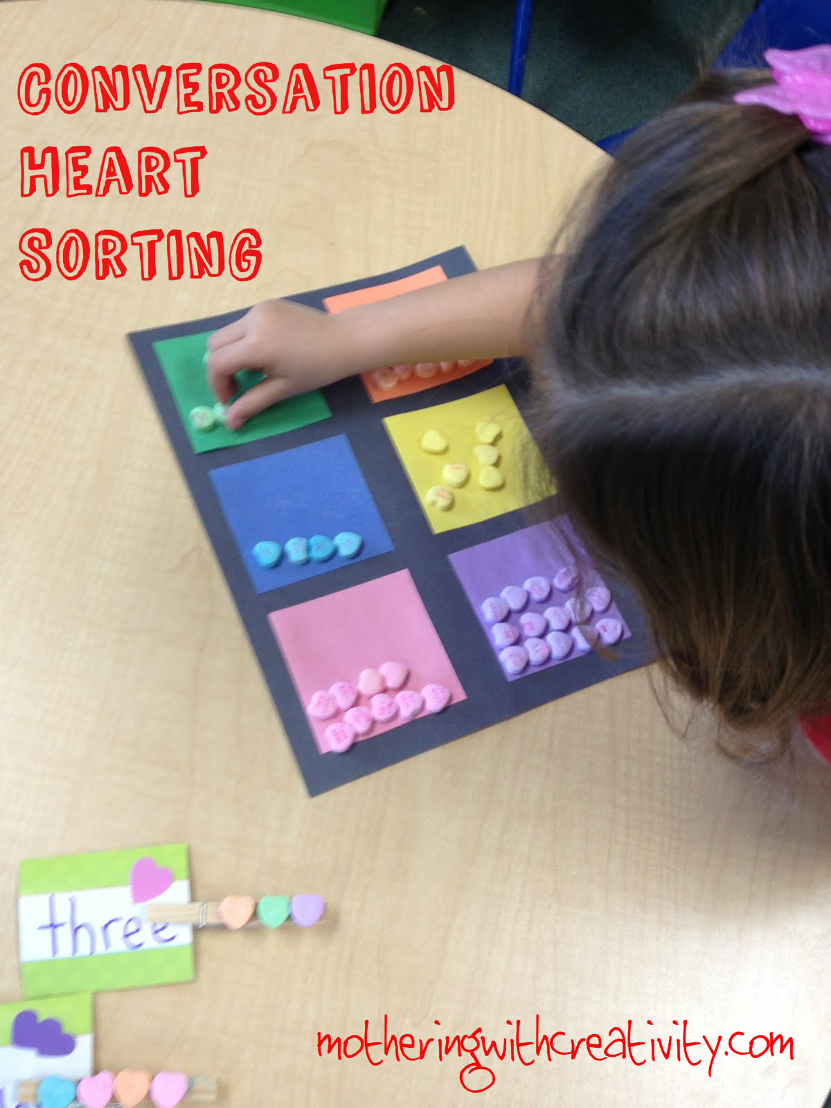Mothering With Creativity Candy Sorting With Age Variations