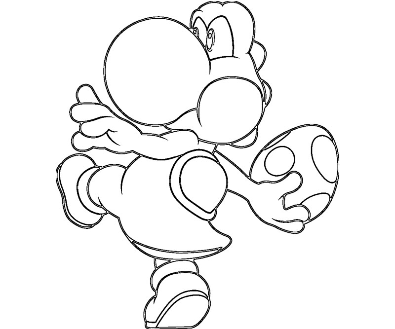mario bros coloring pages yoshi | Mario and Yoshi Coloring Pages to Print