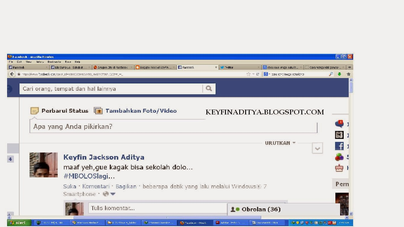 Update Status Facebook Via Apa Saja Alias Via Palsu