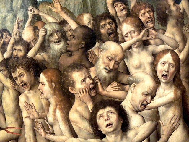 Hans Memling - Il giudizio universale - arte - nudo pittorico
