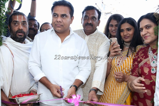 KTR Launches Manjula Jewels First Store
