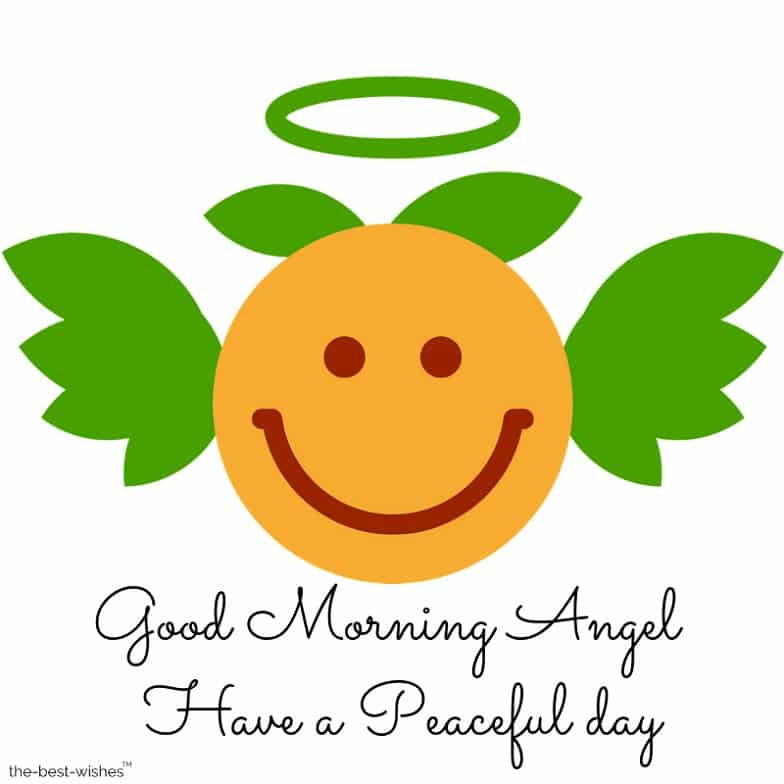 good morning smiley emoji angel