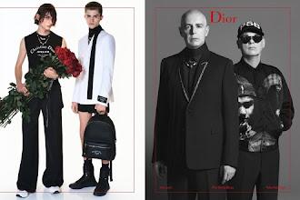 Pet Shop Boys na campanha de Primavera/Verão 2018 da Dior Homme