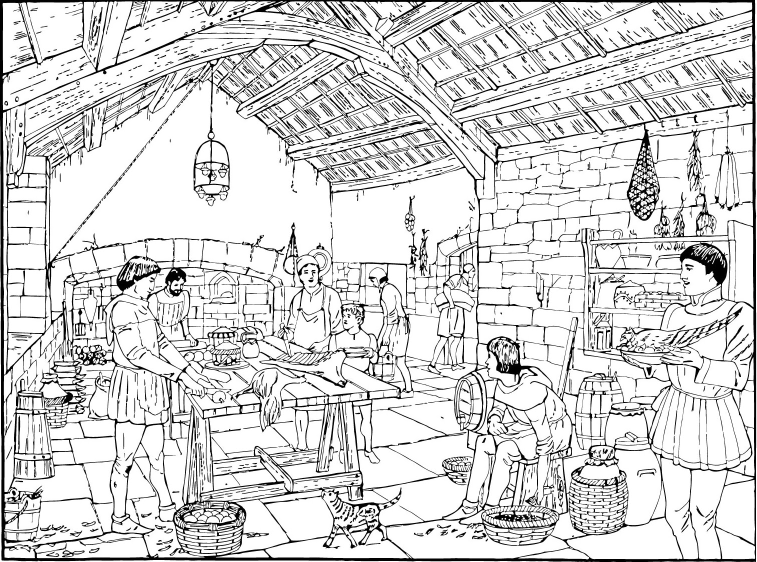 Coloring Pages For Medieval Times - Coloring Home | 1124x1514