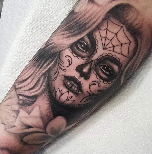 tattoos design ideas 34 best day of the dead tattoo designs idea for men and women. Black Bedroom Furniture Sets. Home Design Ideas