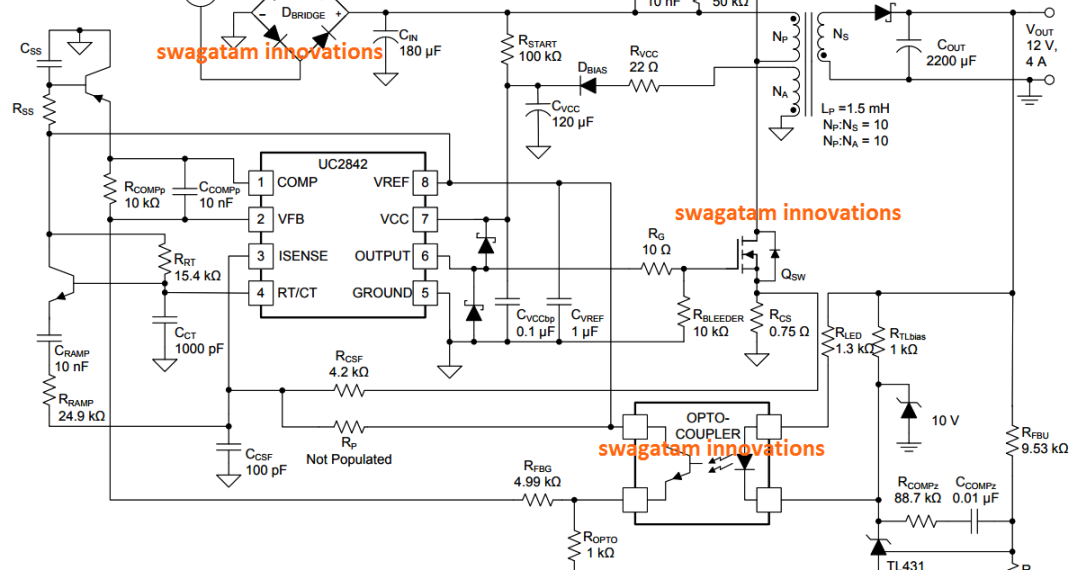 12V 2 Amp SMPS Circuit ~ Electronic Circuit Projects