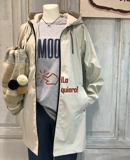 "Comprar Sudadera MOOD "" MUS & BOMBOM "" Pan Blanco Moda"