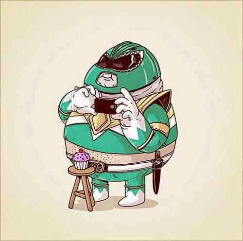 Fat Super Hero Gemuk - Fat Green Power Ranger