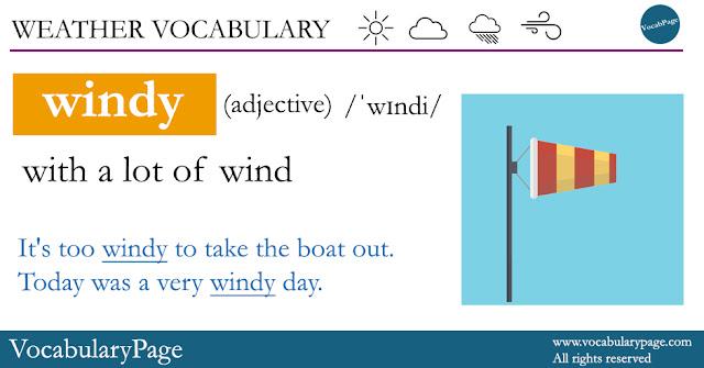 Weather Vocabulary - Windy