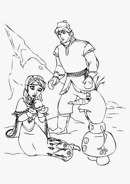 Printable Frozen Characters Coloring Pages