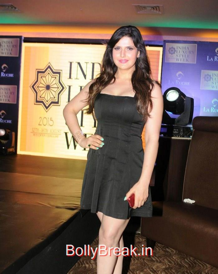 Zareen Khan, Zareen Khan Urvashi Rautela Hot Pics At India Luxury Style Week 2015 Announcement