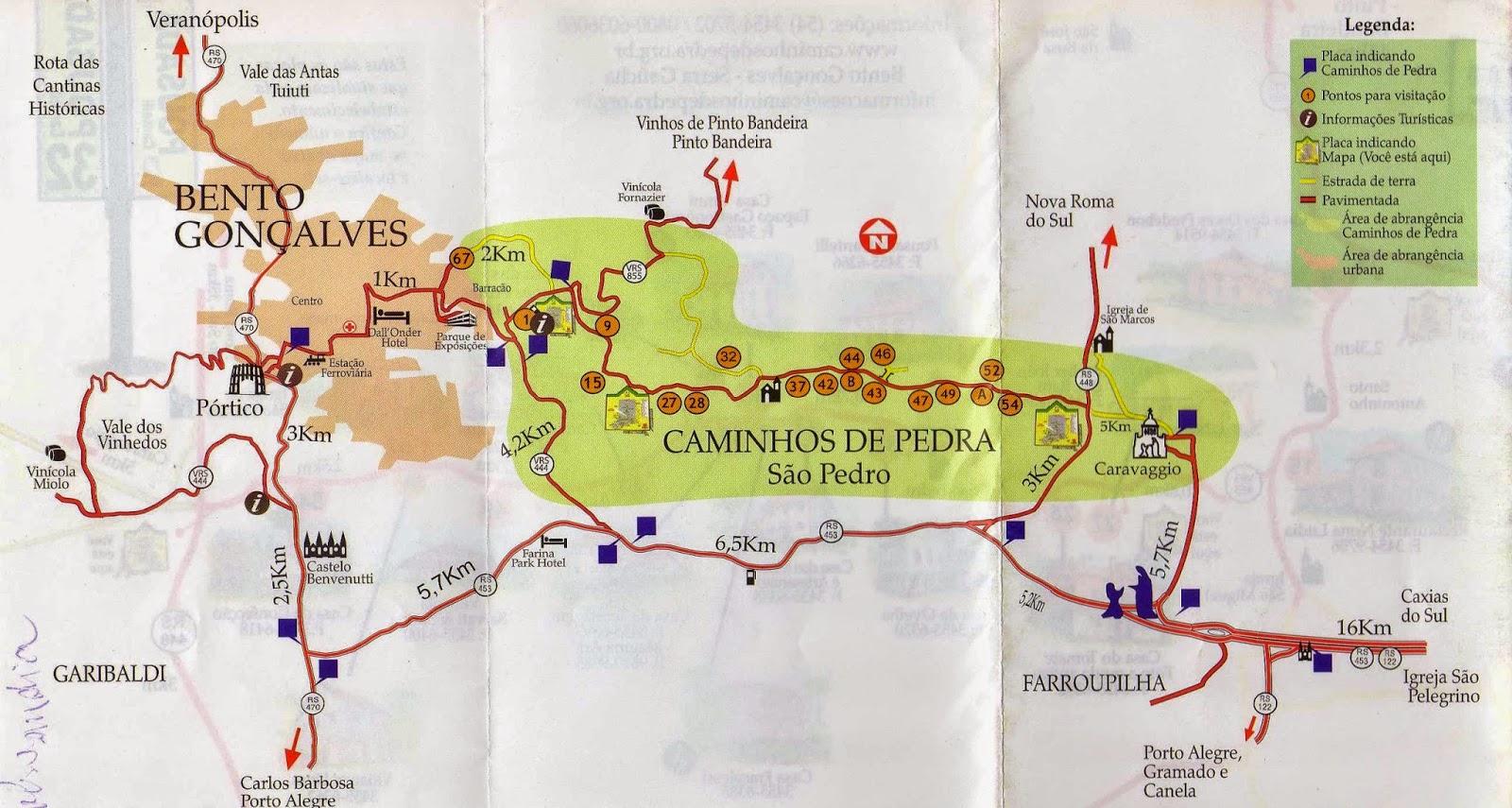 Caminhos de Pedra/Mapa