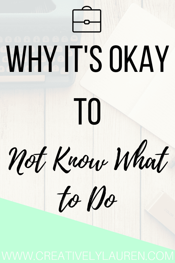 Today I want to talk about something that a lot of people are afraid or ashamed to talk about when it comes to their career, including myself. Many people when they get into college, throughout college, and even after they graduate, don't know what to do careerwise. And that is okay!