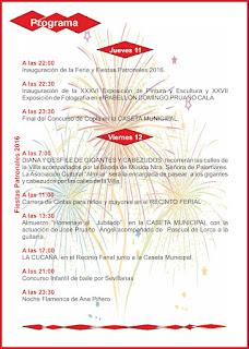 Fiestas Patronales de Trebujena 2016 - Programación 11 y 12 de Agosto