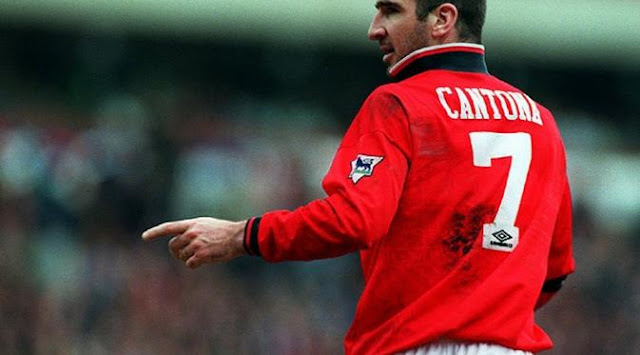 Football Legends wore the No.7 at Manchester United - Eric Cantona