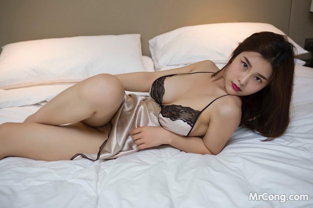 Image Yan-Pan-Pan-Part-5-MrCong.com-010 in post Ngắm người đẹp Yan Pan Pan (闫盼盼) khoe dáng sexy với váy ngủ (25 ảnh)