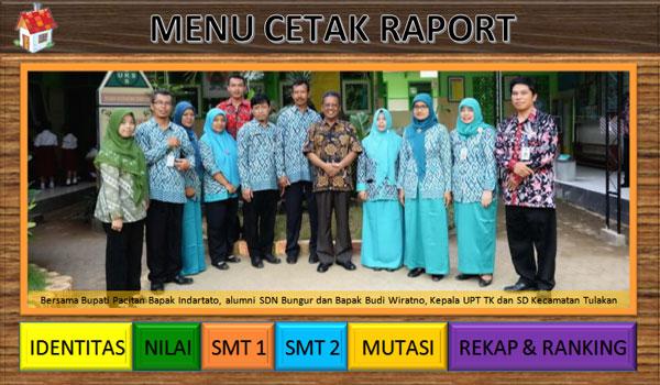 Aplikasi Raport / Penilaian Kurikulum 2013 Revisi Kelas 1 4 SD Terbaru
