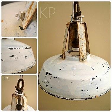 Venta de lámparas estilo industrial francés auténtico. Tienda vintage de lámparas antiguas en valencia.