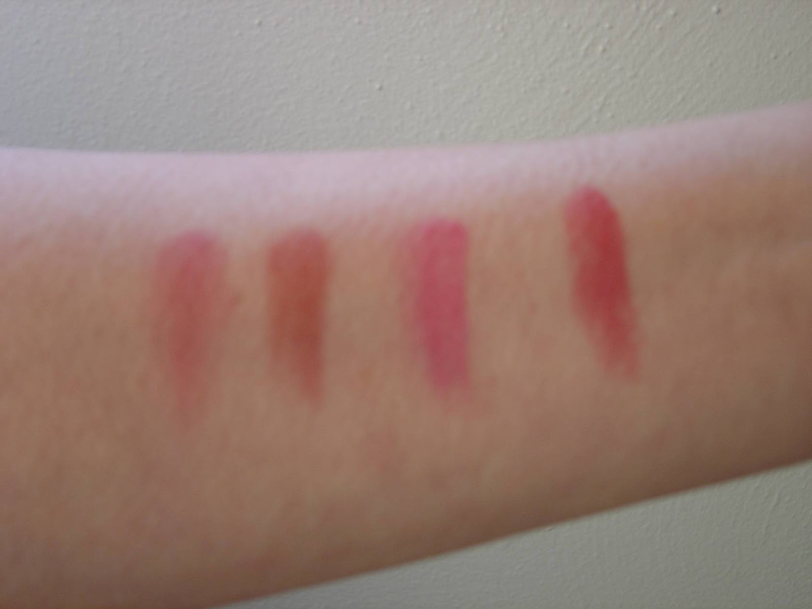 swatches of the four Rimmel lipsticks.jpeg