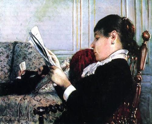 Кайботт Гюстав Gustave Caillebotte  Читающая женщина в интерьере (1880)