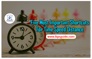 Five Most Important Shortcuts for Time Speed Distance - IBPS Exams 2017