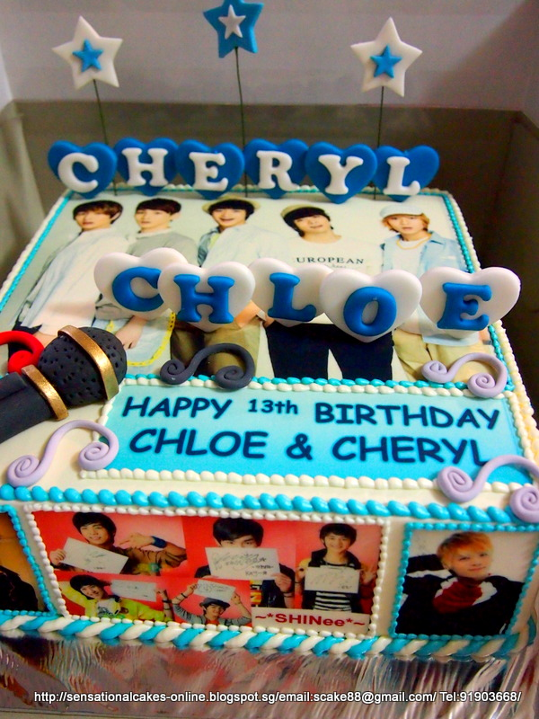 Cakes2share Singapore Shinee Cake Singapore Kpop Theme