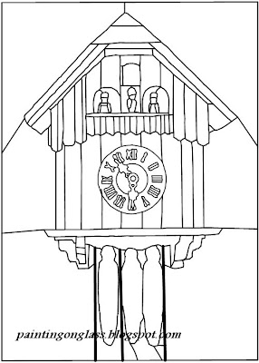 PAPER PATTERN OF CUCKOO CLOCK