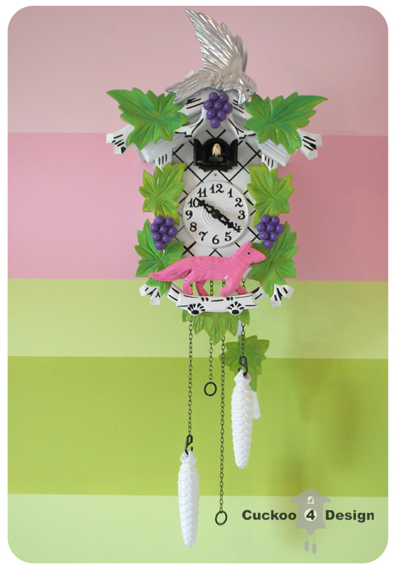 Lilly 39 s cuckoo clock is done cuckoo4design - Colorful cuckoo clock ...
