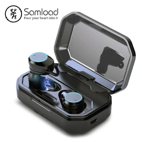 Беспроводные Bluetooth 5,0 наушники Samload с глубоким 3D басом мощным зарядным устройством Power Bank 3000 mAh влагозащищенные IPX7 для IOS и Android