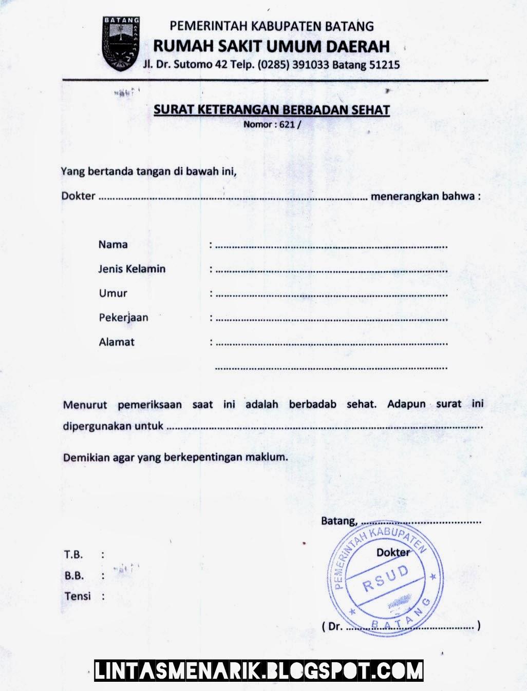 gudangnya surat formal contoh surat keterangan sakit