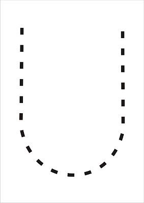 Vogais Pontilhadas - Letra U