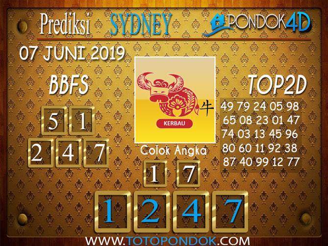 Prediksi Togel SYDNEY PONDOK4D 07 JUNI 2019