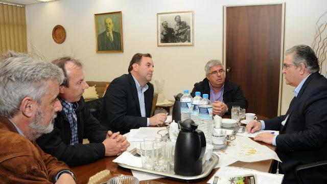 Συνάντηση του Δ. Κουτσούμπα με την Ομοσπονδία Εργαζομένων Βιομηχανιών Ζάχαρης