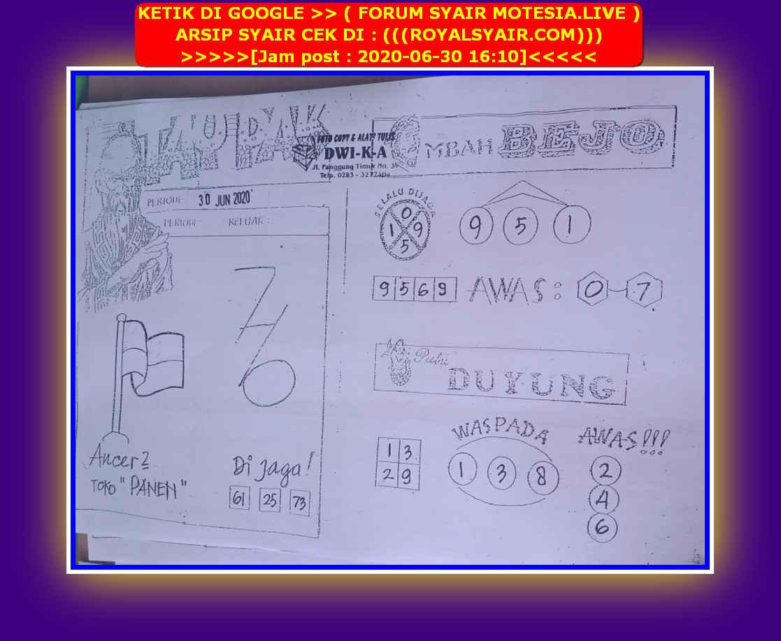 Kode syair Hongkong Selasa 30 Juni 2020 94
