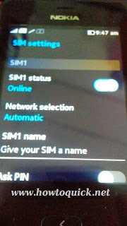Nokia Asha 501 settings