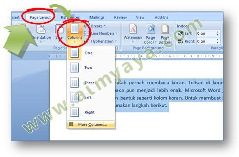 Cara Mudah Membuat Kolom Tulisan Koran di Microsoft Word | cara ...