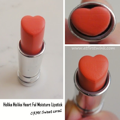 Holika Holika Heart Ful Moisture Lipstick CR301 review