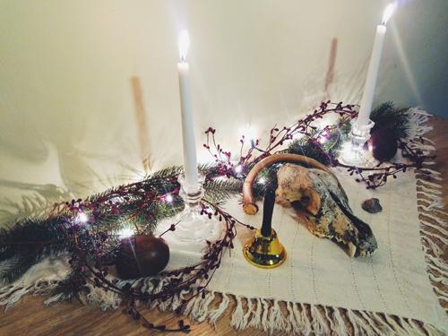 Yule Altar 2018
