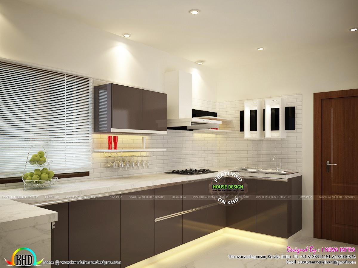 Kerala kitchen interiors - Kerala home design and floor plans