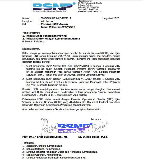 untuk tahun ini ialah kali pertama pemerintah merilis lebih awal informasi resmi wacana Resmi! Download Kisi-kisi UN SMP/ MTs SMA/ MA SMK/ MAK Tahun 2017/ 2018
