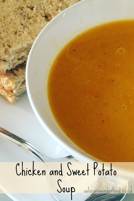 quick and easy chicken and sweet potato soup