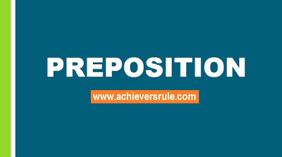 English Grammar Rules - Usage of Preposition