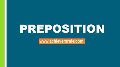 English Grammar Rules - Usage of Preposition
