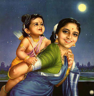 Shri Raam -Balak Raam with his mother