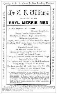 Hippodrome, minstrel pitch
