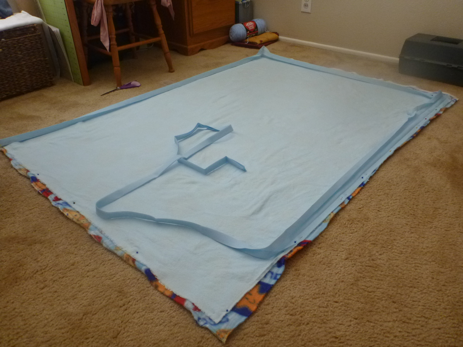 Clearwater Cottage: Easy to Sew Fleece Baby Blanket