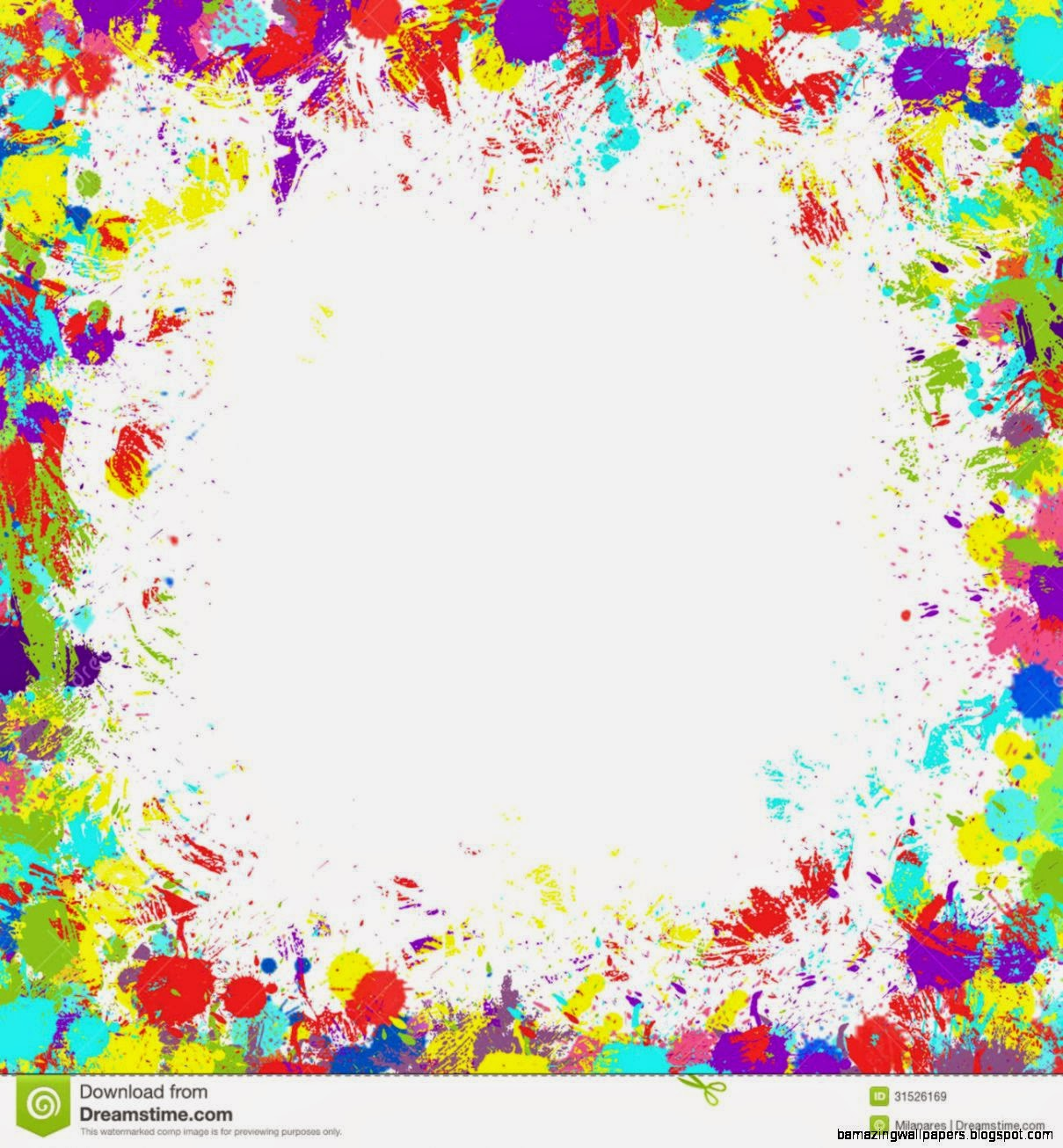 Colorful Paint Splatter Border | Amazing Wallpapers