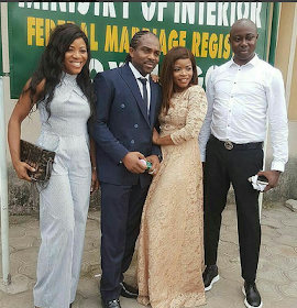 First photos from Laura Ikeji's ongoing court wedding