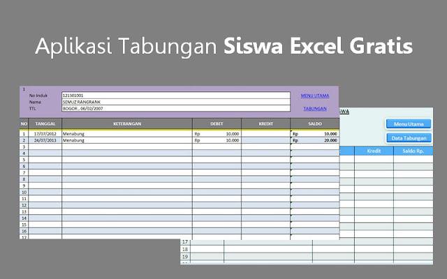 Aplikasi Tabungan Siswa Excel